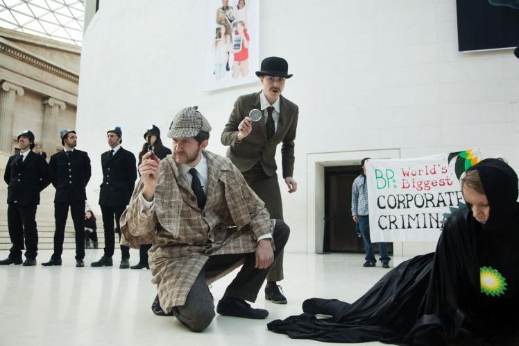 UK - London - BP-or-not-BP anti-bp performace at the Bristish Museum