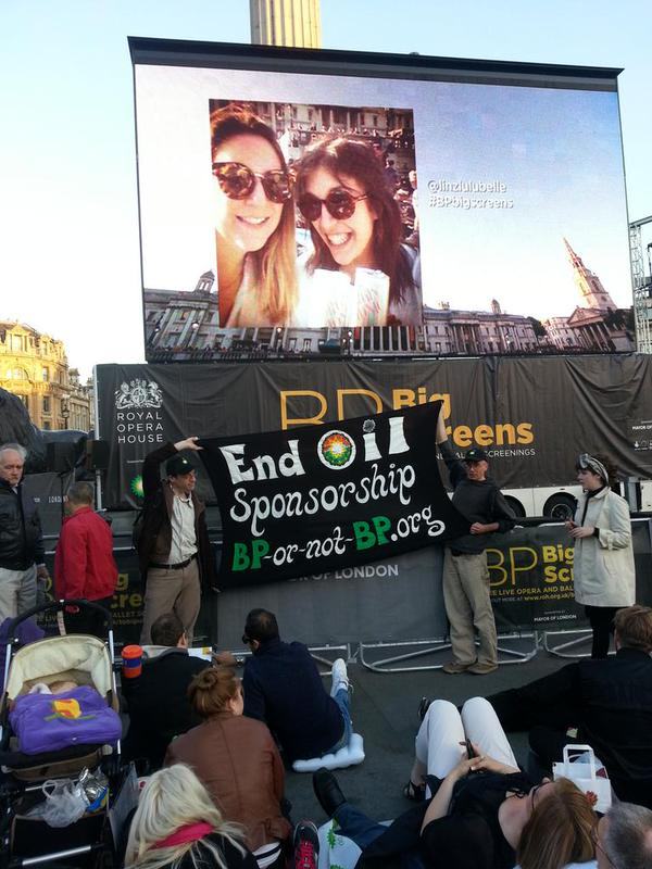 BP Big Screen protest