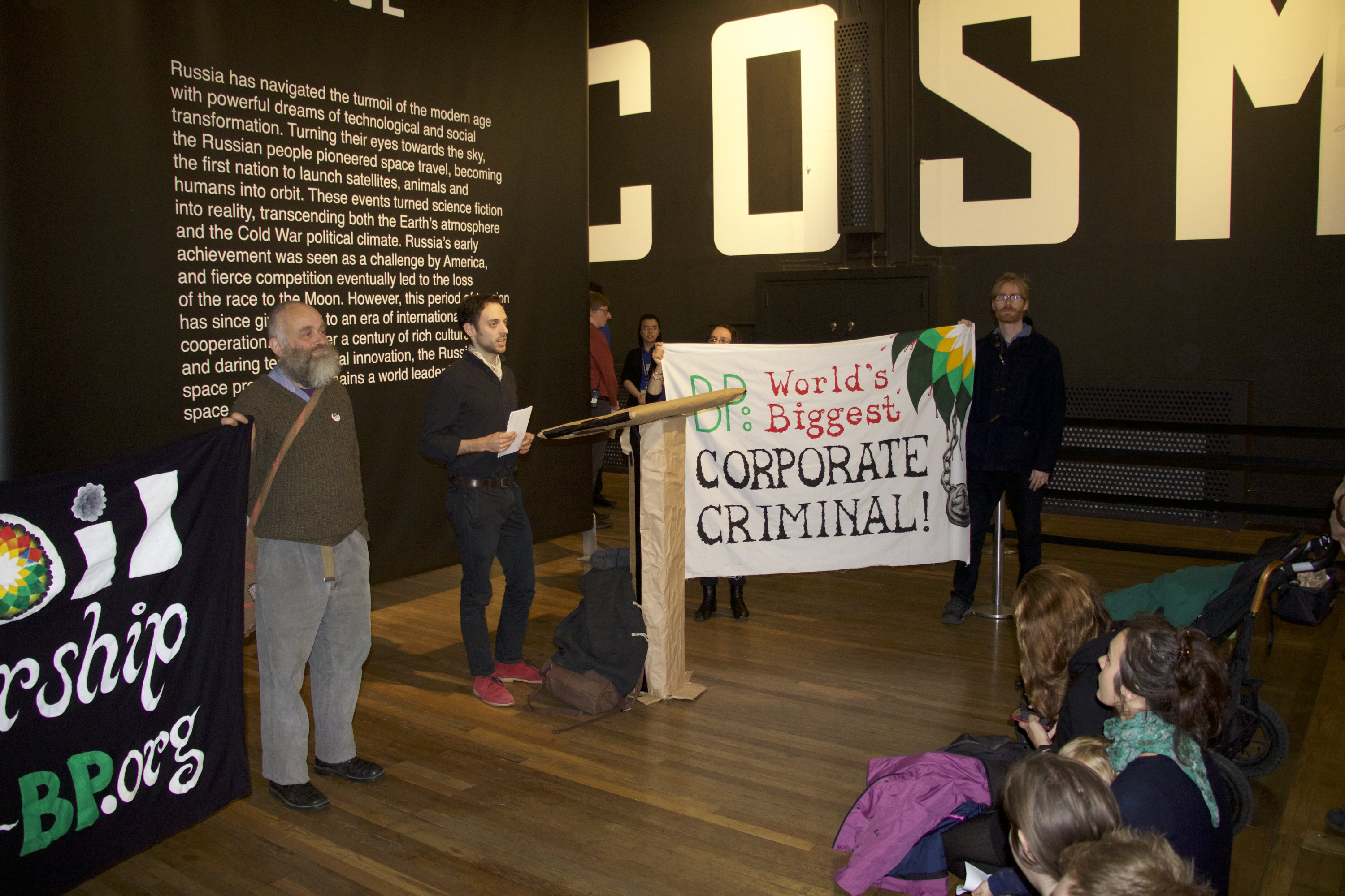 activists take on bp and shell in anti oil action at science sciencemuseumconference3