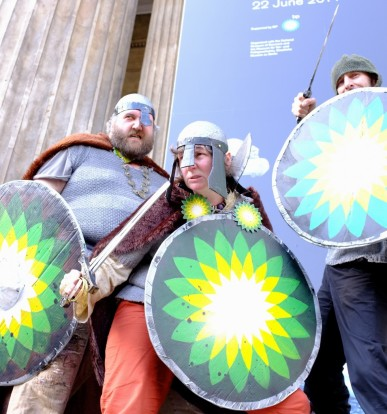 Vikings outside the museum - by Hugh Warwick - cropped