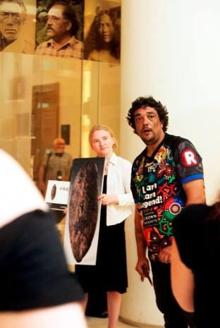 Rodney Kelly in British Museum 3 by Anna Branthwaite