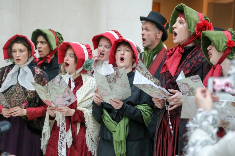 Dickensian choir. Photo by Diana More